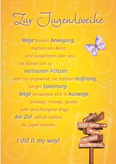 Art Nr 23975 Doppelkarten Zur Jugendweihe Jugendweihe
