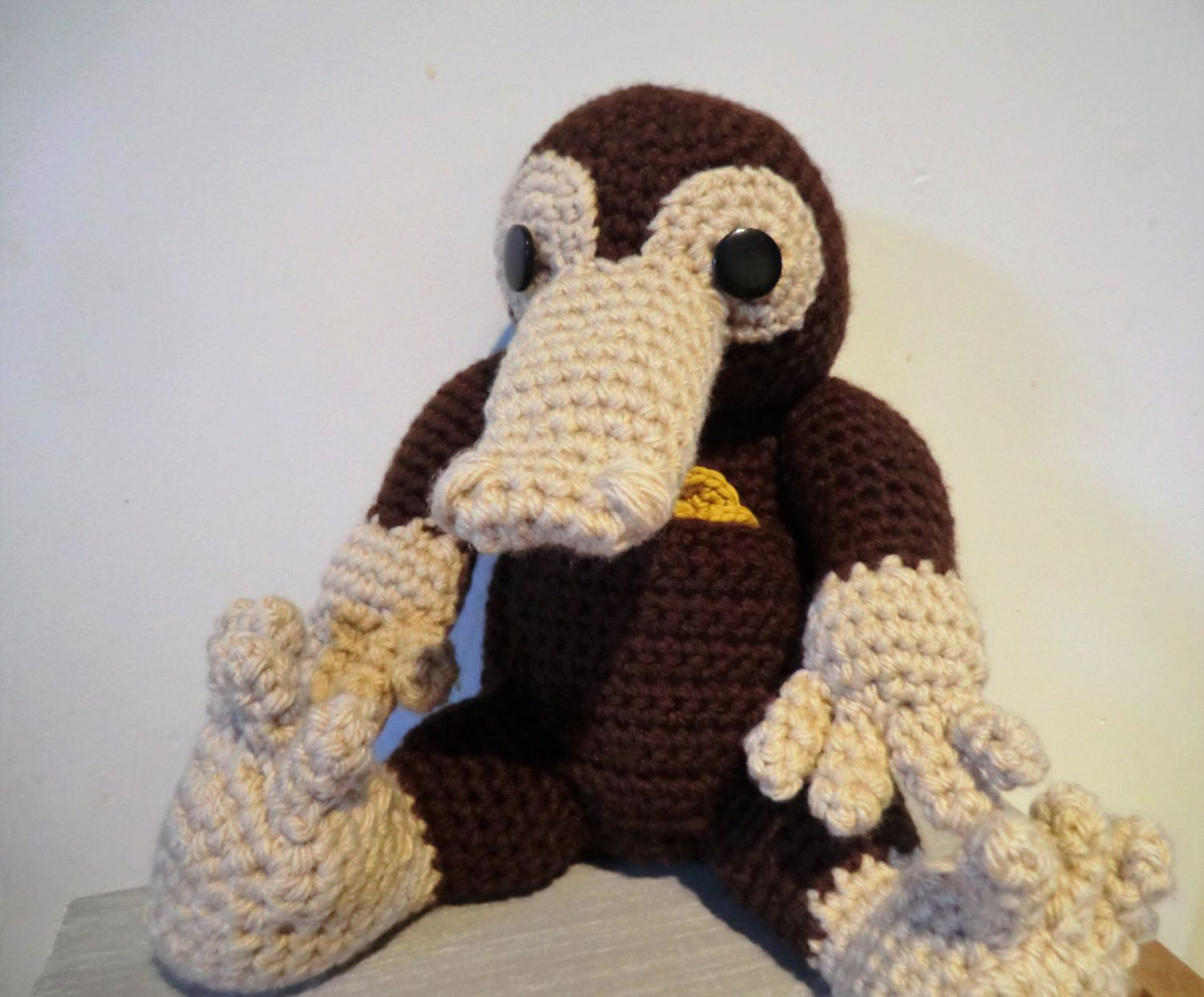 Niffler and coins amigurumi PDF crochet pattern inspired by Harry ...