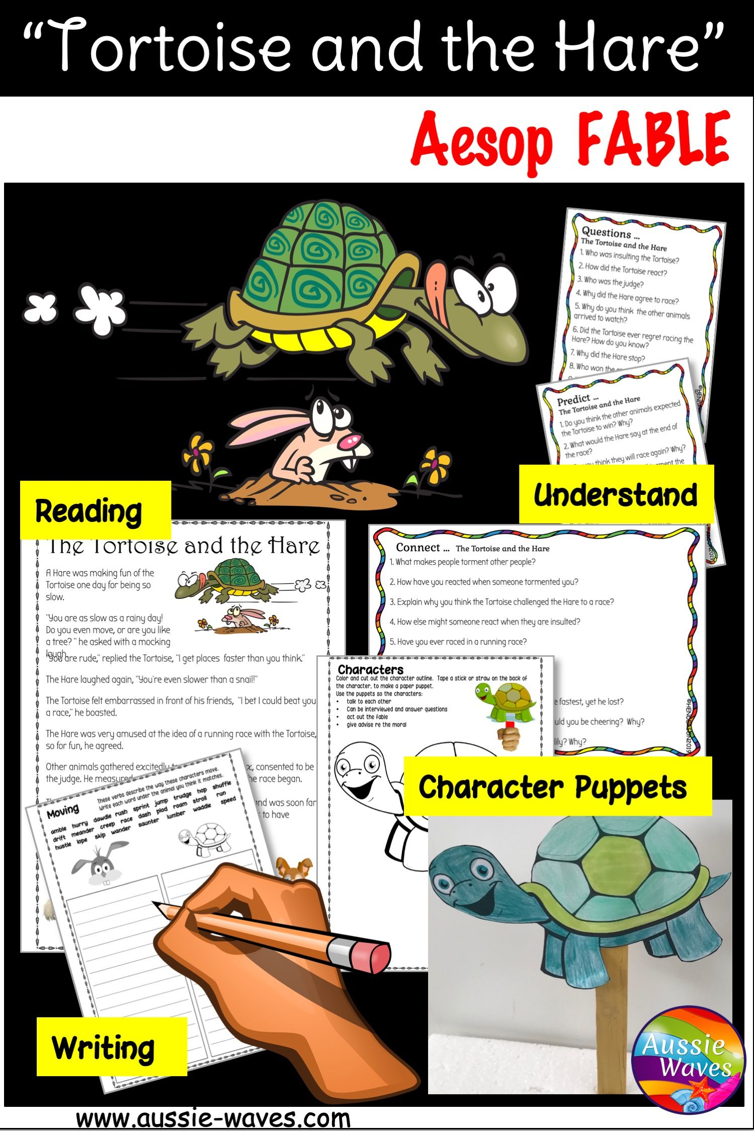 Aesop Fable Story Amp Activity Task Cards The Tortoise And