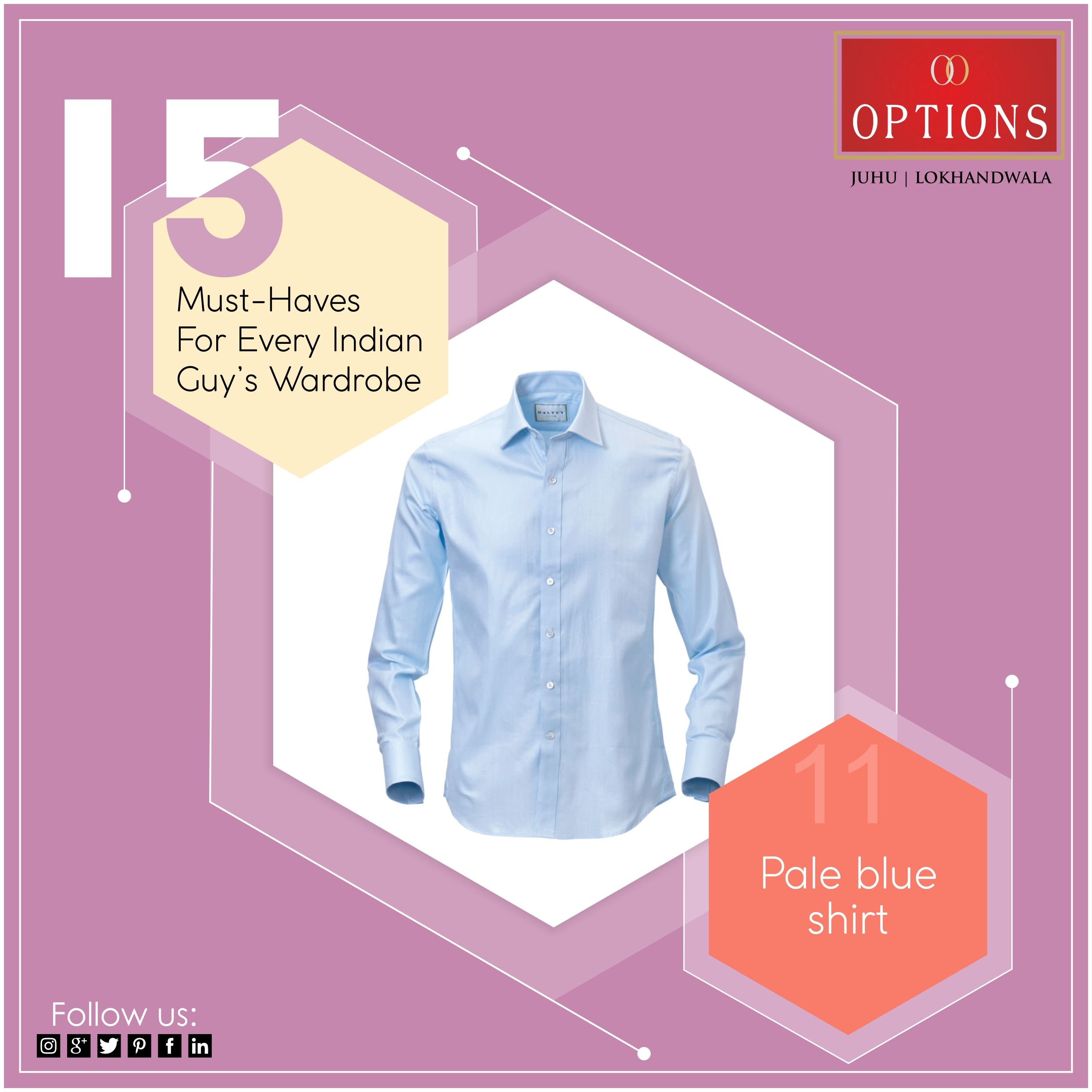 d6b7a7a5fd 15 must have in every guy s wardrobe.  Dailyfashionguide   optionsthefashionmall  juhu  lokhandwala  mumbai