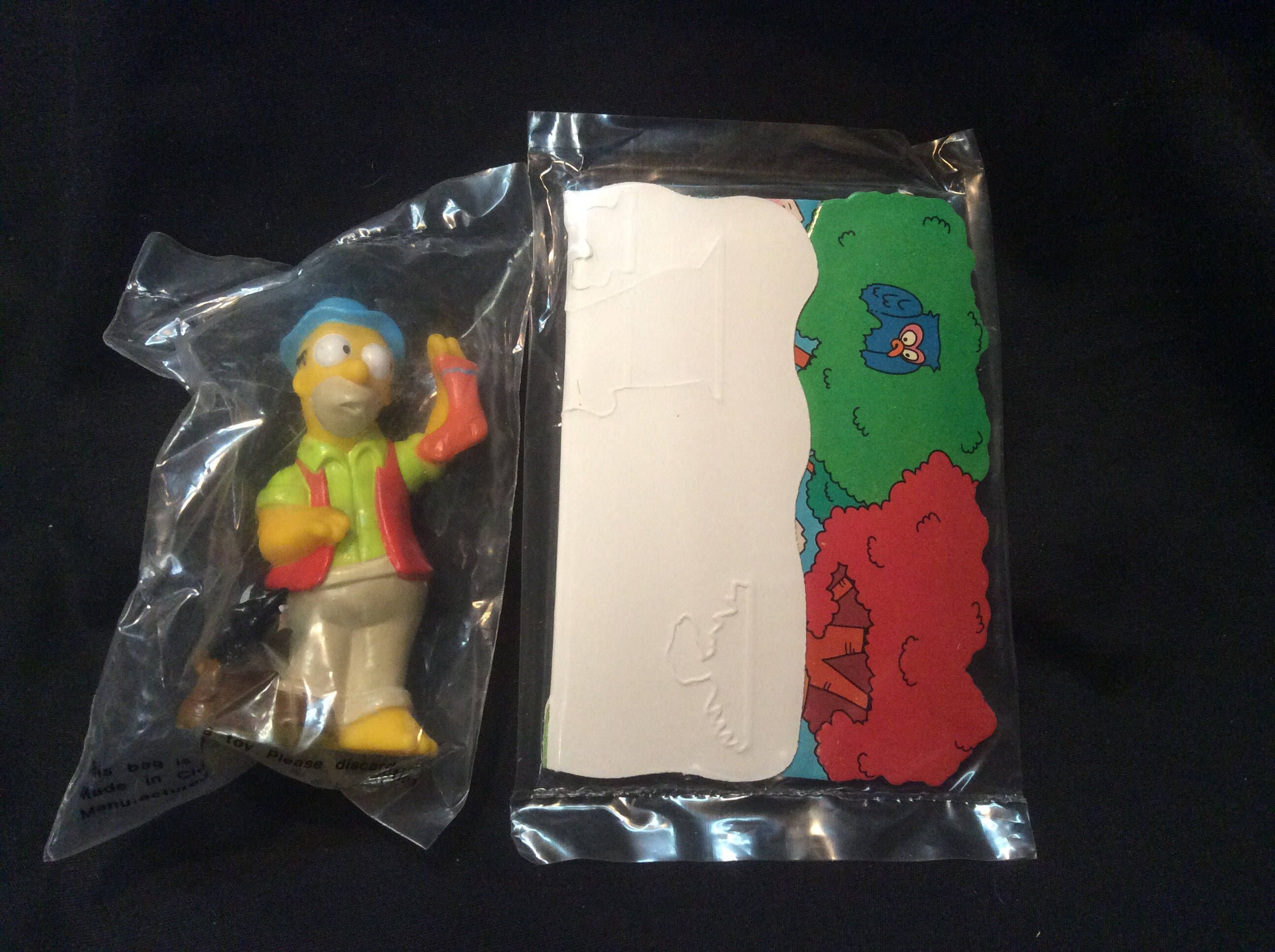 1990 Burger King Simpsons Camping series figures Marge sealed in baggie