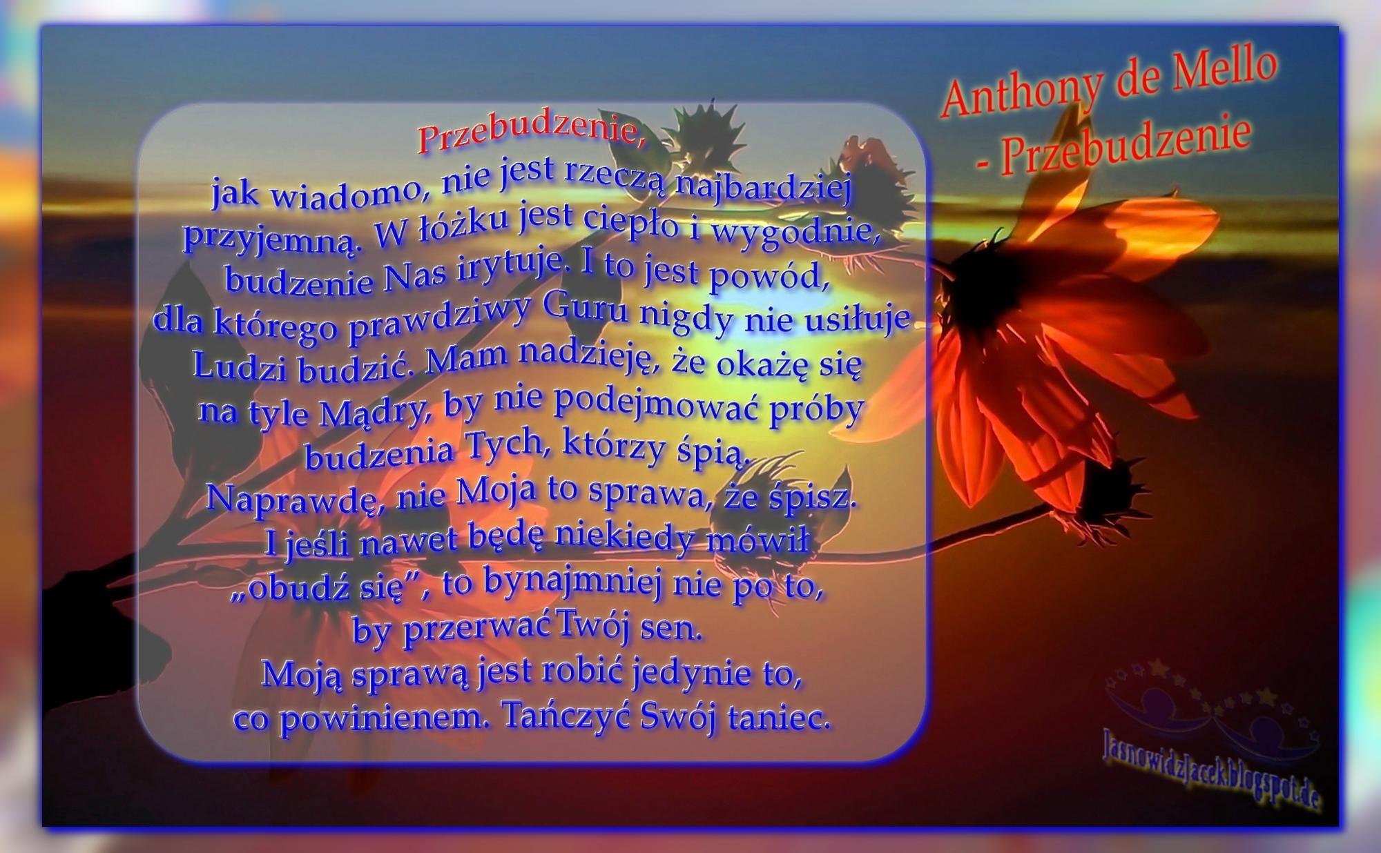 Anthonydemello Przebudzenie Anthony De Mello Jasnowidzjacek