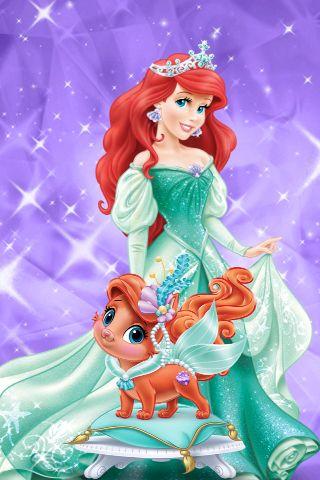 Ariel And Treasure Palace Pets Game Get At App Store Disney Disney Prinsessen Disney Prinsessen