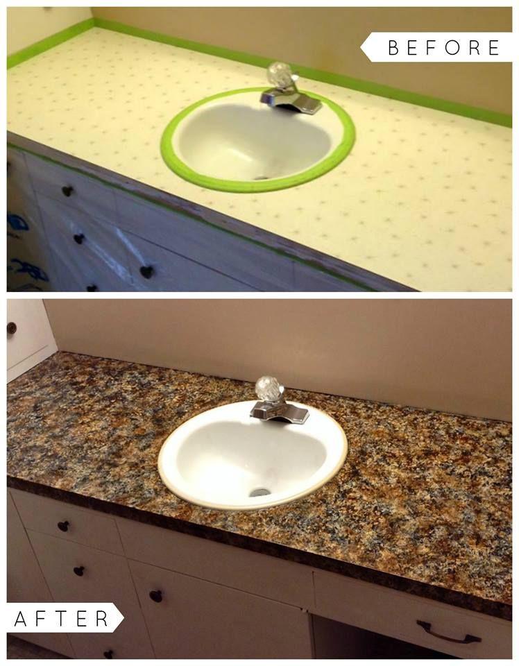 Giani Chocolate Brown Countertop Paint Kit Diy Bathroom Vanity