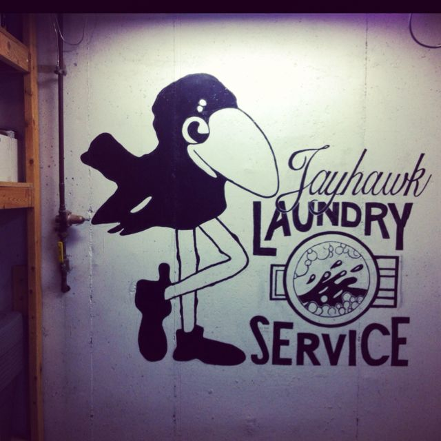 Jayhawk Laundry Service Mural For Our Laundry Room Laundry