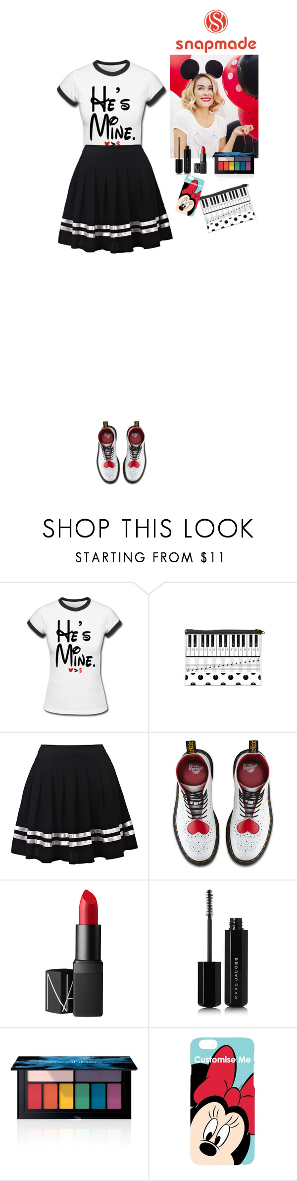 """Visit Disneyland Snapmade"" by eliza-redkina ❤ liked on Polyvore featuring Dr. Martens, Lauren Conrad, NARS Cosmetics, Marc Jacobs, Smashbox and Disney"