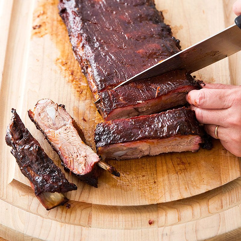 Memphis Style Wet Ribs For A Crowd Cook S Country Smoked Food Recipes Barbeque Recipes Recipes