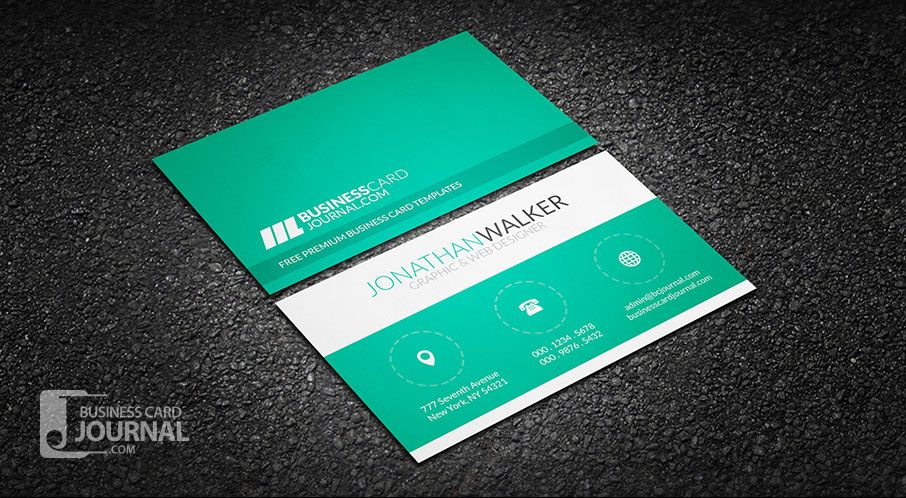 This template truly summons up what modern minimalistic design is green clean minimal creative business card template more at designresources reheart Choice Image