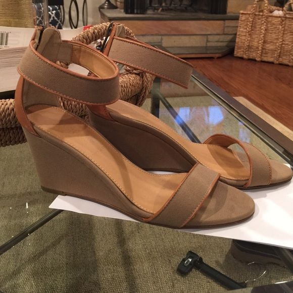 Jcrew fabric wedge sandal 6.5 Made in Italy. Brand new. Greta style. No tags or box. J. Crew Shoes Sandals