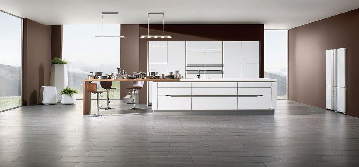 cuisine am nag e blanc laque et inox pour la cuisine rive gauche arthur bonnet cuisines. Black Bedroom Furniture Sets. Home Design Ideas