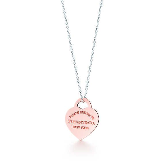 4f3dbc11e Return to Tiffany® heart tag pendant in RUBEDO® metal and sterling silver,  small