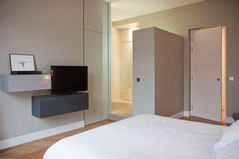 salle d\'eau dans la chambre | Décoration | Pinterest | Le chambre ...