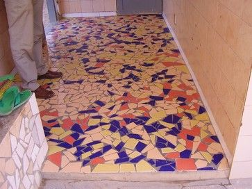 Broken Tile Floor Design Ideas Pictures Remodel And Decor Mosaic Flooring Floor Tile Design Mosaic Floor Tile