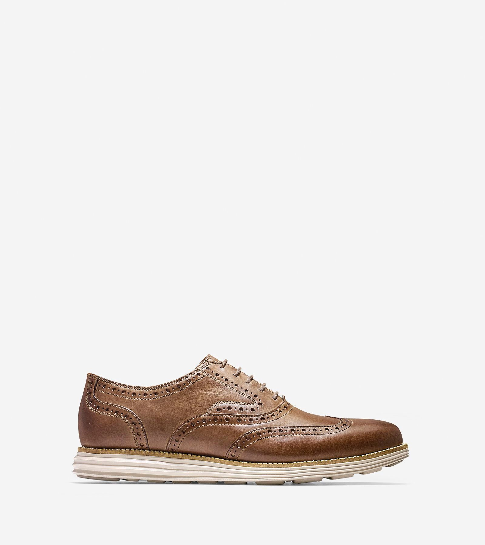 COLE HAAN Men's ØriginalGrand Short Wingtip Oxford - Morel-cobblestone. # colehaan #shoes