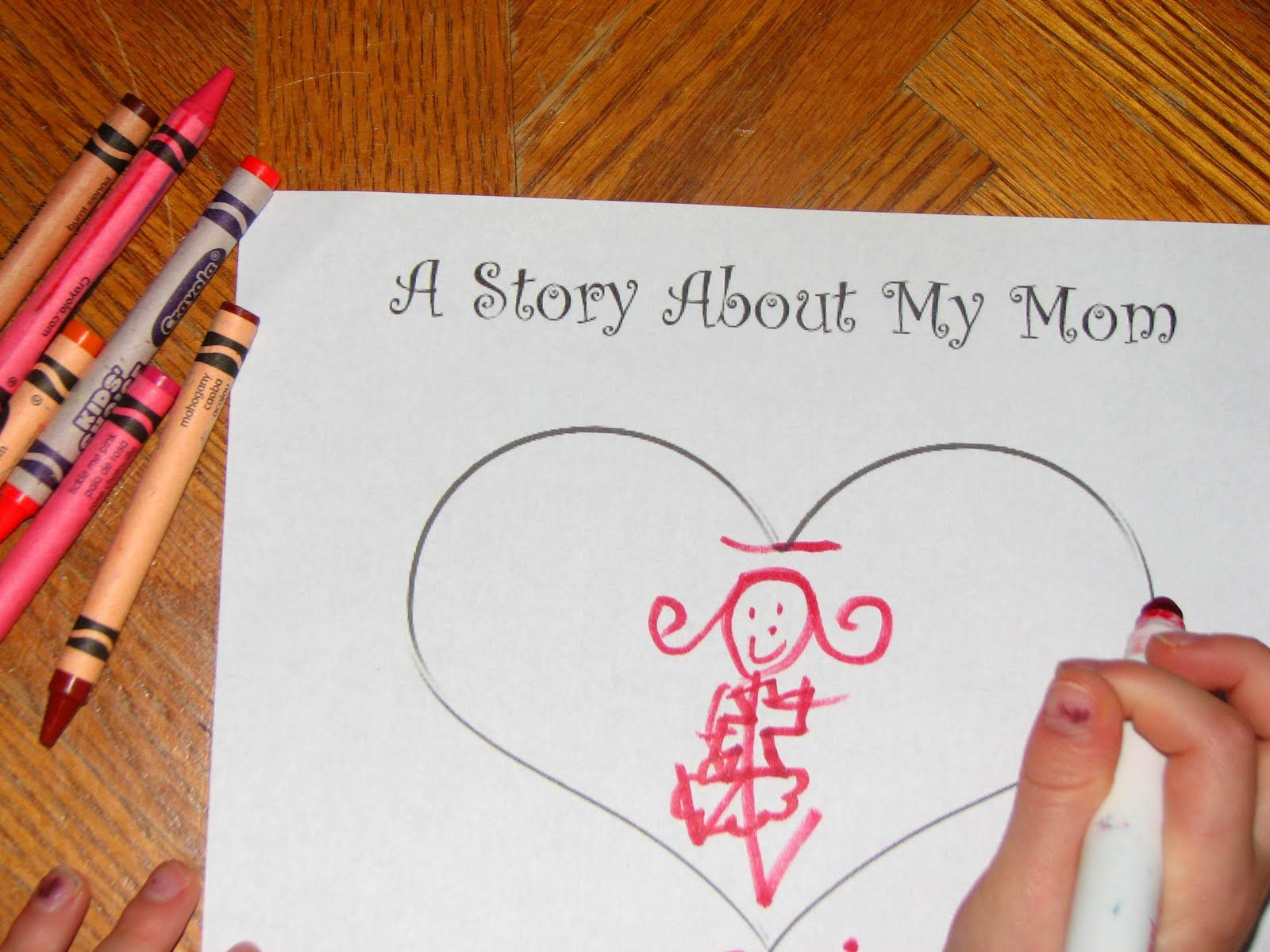 A Story About My Mom A Mother S Day Printable Keepsake