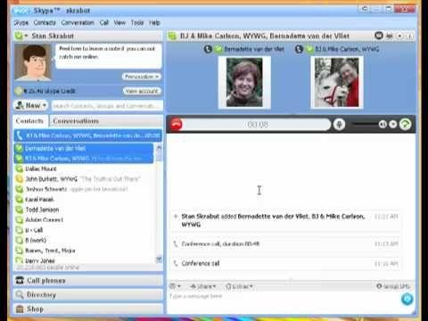 Skype 5 Make A Conference Call With Skype Social Media And U