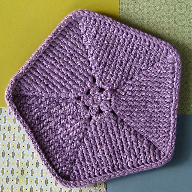Crocheted Pentagon Crochet Stitches Pinterest Crochet