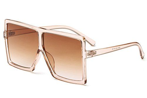 9920f900cc GRFISIA Square Oversized Sunglasses for Women Men Flat Top Fashion Shades