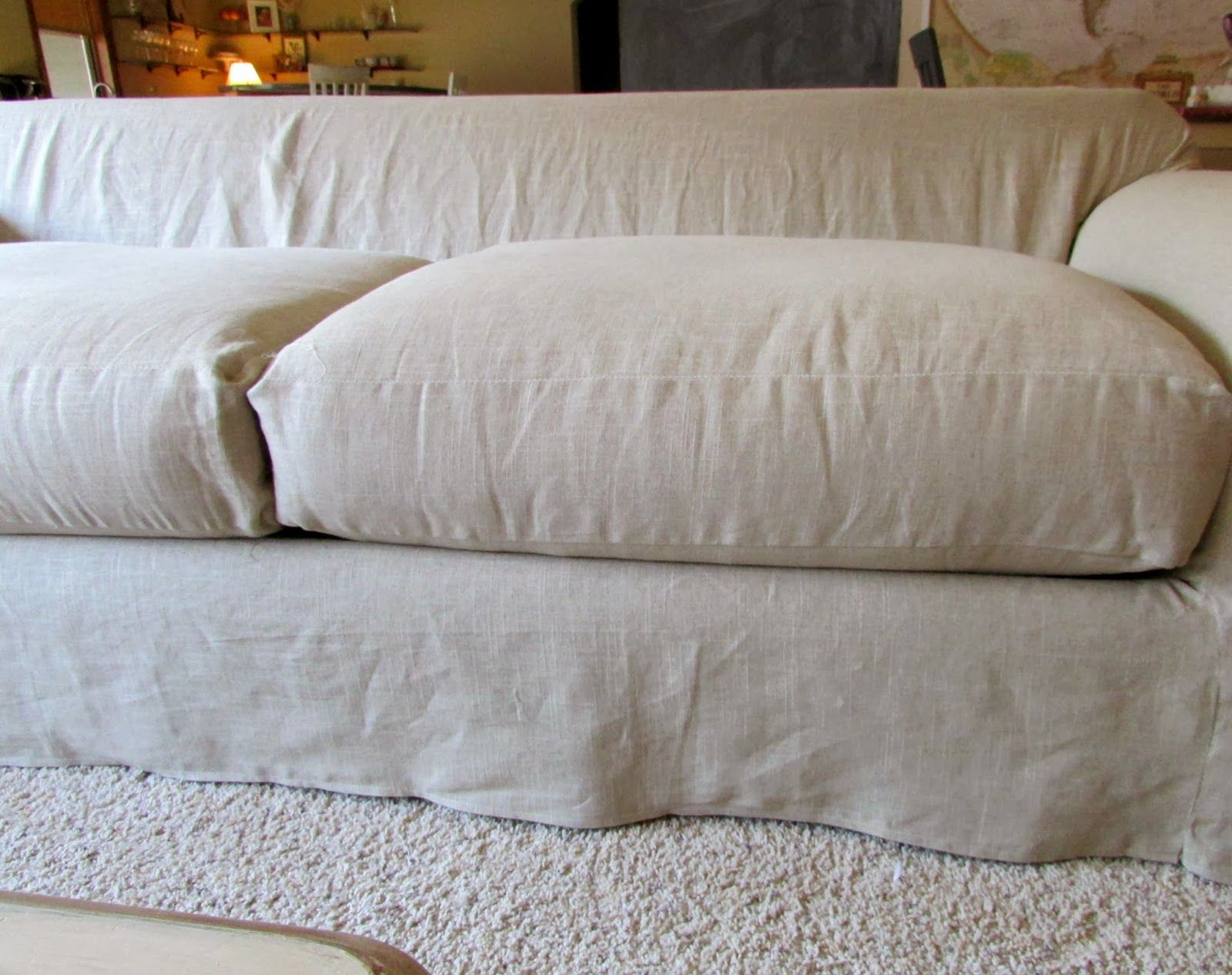 Linen Slipcovered Couch Tutorial Slipcovers Linen Couch Couch