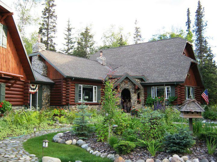 Alaska cabin my mother in law 39 s home pinterest for Mother in law cottage log cabin