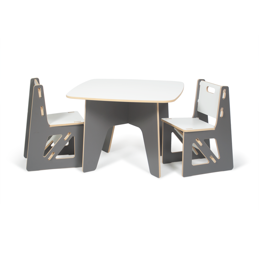 Sprout S Modern Kids Table And Chairs In Grey Modern Kids Table Kids Table And Chairs Toddler Table