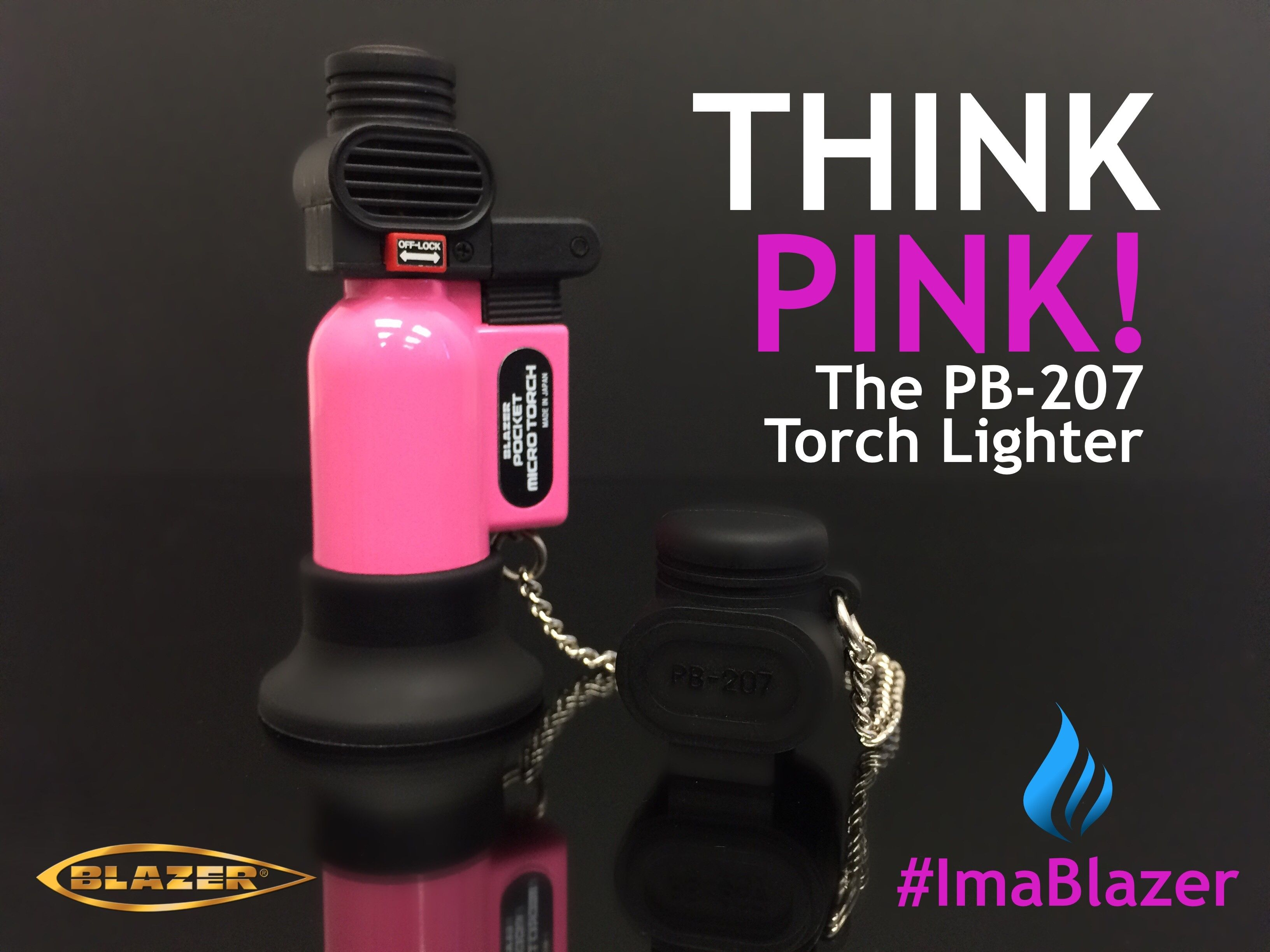 The First and Still The Best - The original Made in Japan PB207 (Pocket Blazer) features a wind resistant 2500F flame, ideal for outdoor use and field work. Fits easily in tool boxes, survival kits, and of course in a pocket.  Available in 13 great looking colors including Pink. Ask for the Pocket Blazer today.   #Butane #Torch #Cigar #Lighter #BlazerTorch #Pink #ButaneTorch