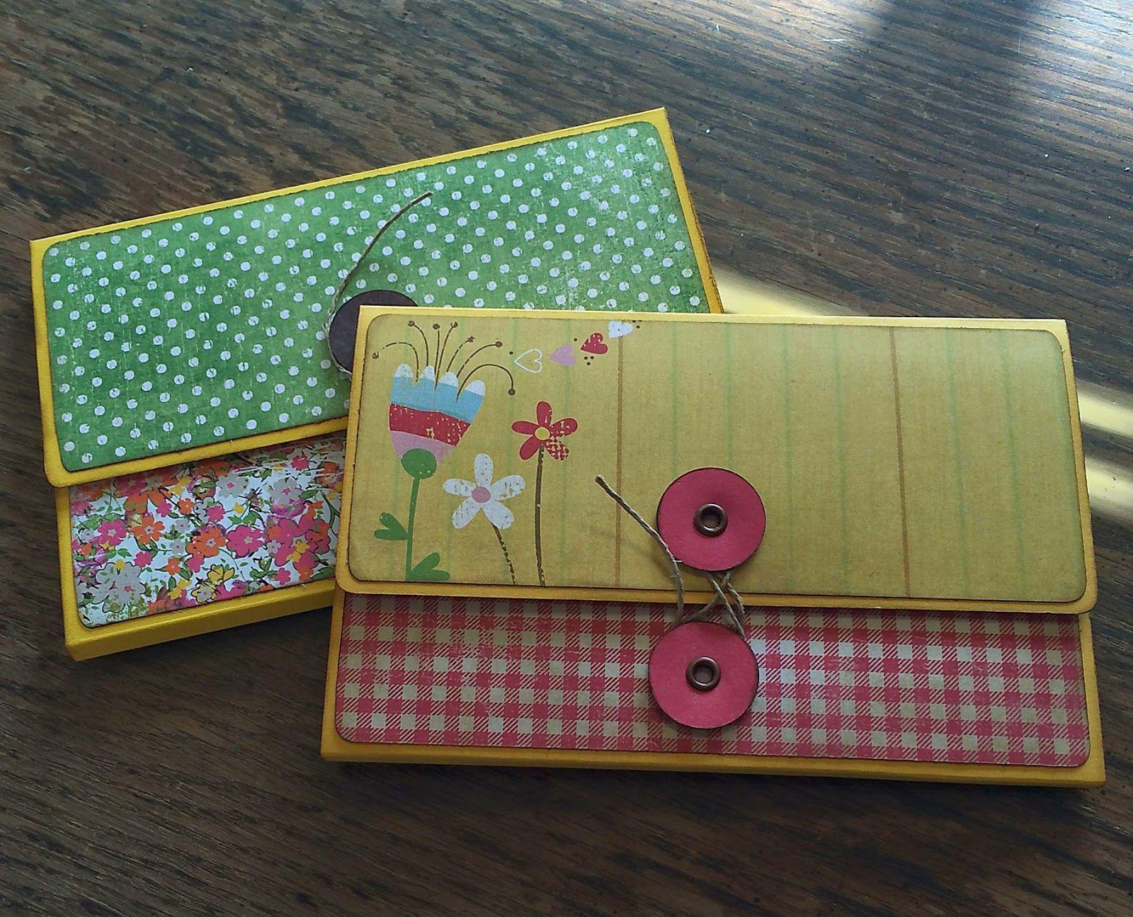 Scrapbook notebook ideas - The Olde Saltbox Wallet Mini Album Excellent Video Tutorial For This Mini Album