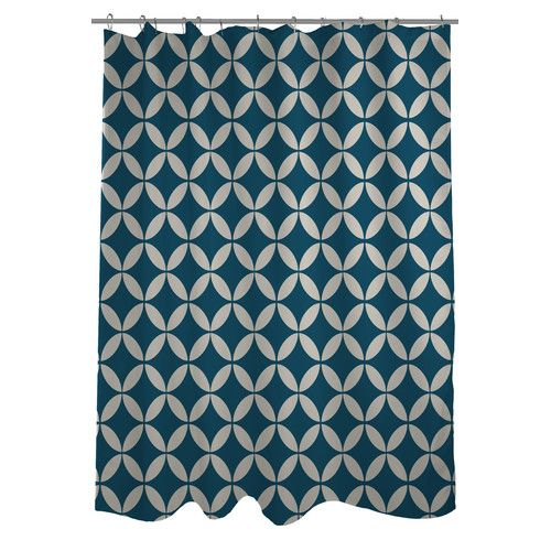 Dahlia Geometric Single Shower Curtain Geometric Shower Curtain Cool Shower Curtains Geometric
