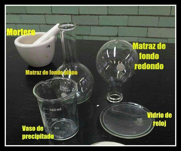 Material Para Experimentación Mortero Matraz De Fondo Plano Matraz De Fondo Redondo Vidrio De Reloj Va Materiales De Laboratorio Vasos De Precipitado Vaso