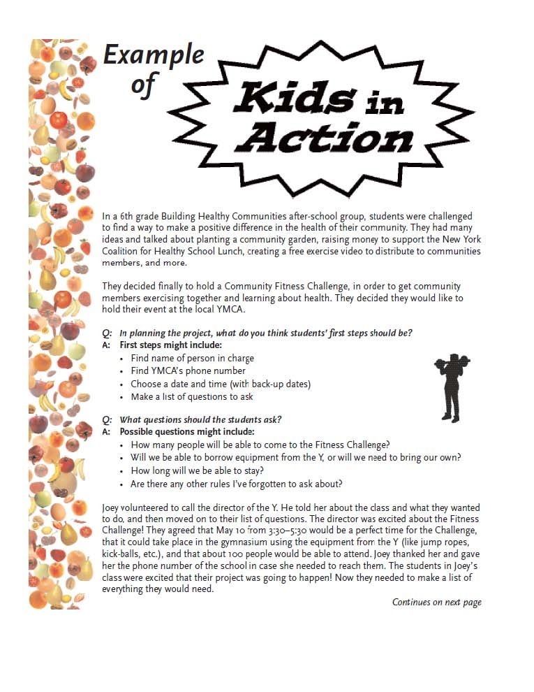 Lesson Plan What My Community Needs Service learning