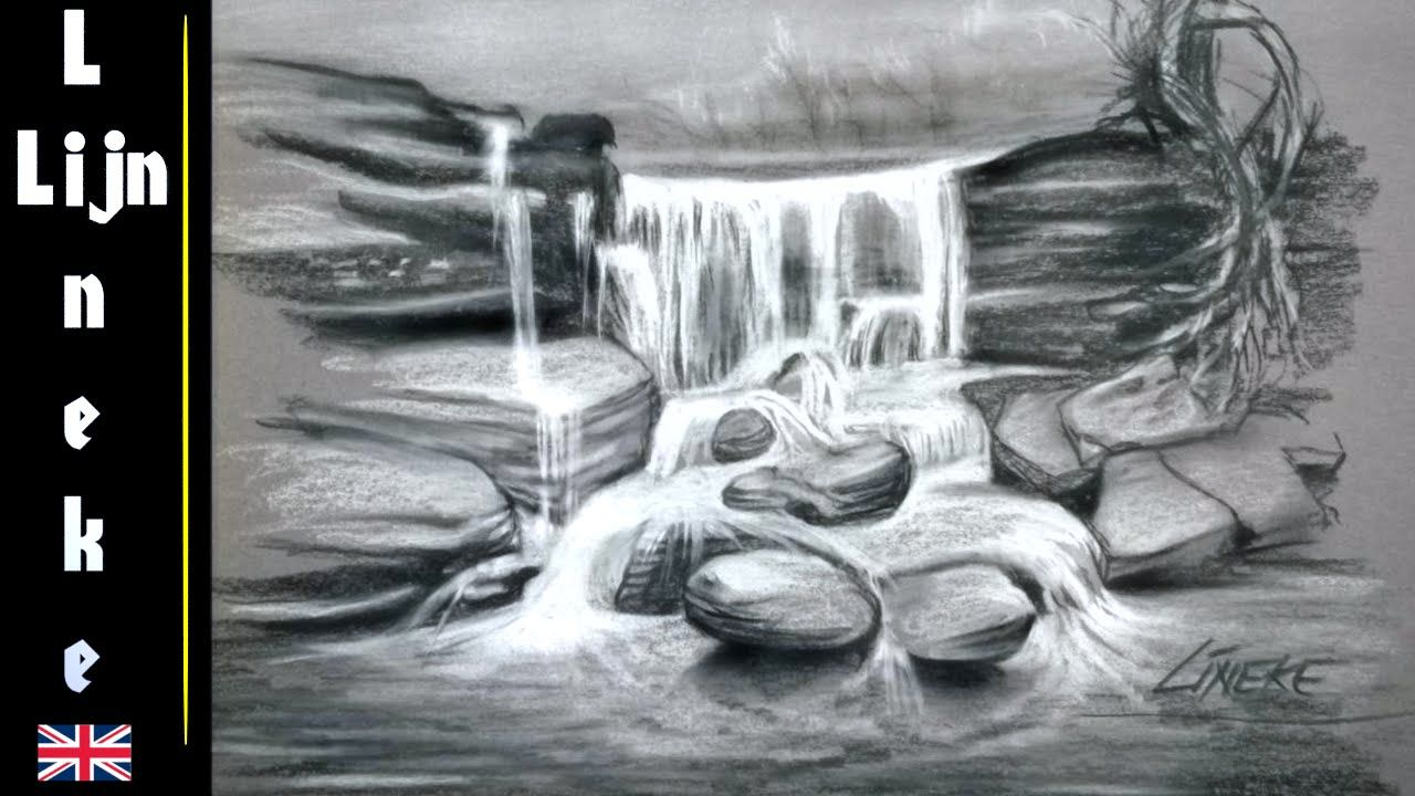 9e901dd3469720801b4183673972b472 » Realistic Pencil Waterfall