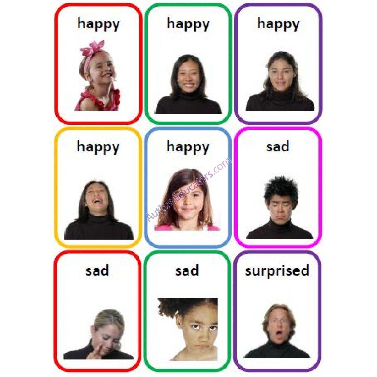 Emotions Cards Happy Sad
