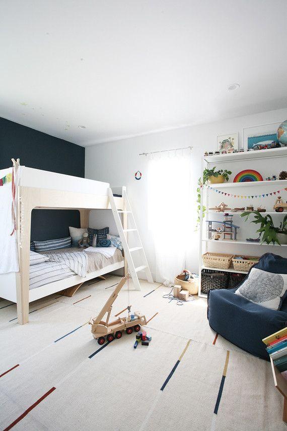 Modern Natural Shared Boys Room Nursery Kids Room Decor 100