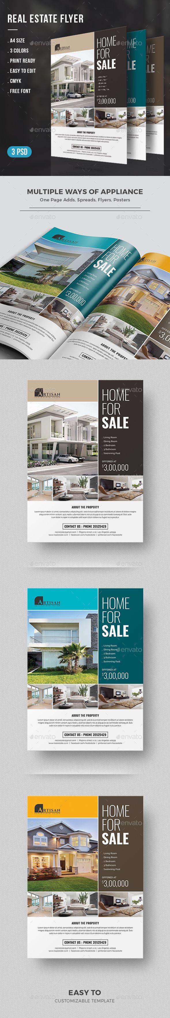 Real Estate Flyer Template PSD. Download here: https://graphicriver.net/item/real-estate-flyer/17364520?ref=ksioks