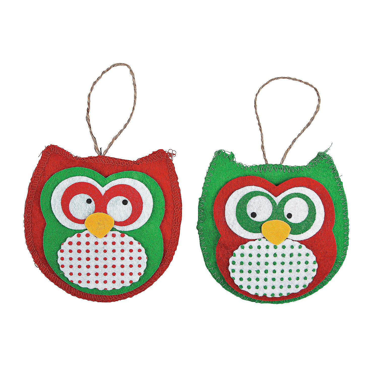 Christmas ornament craft kit - Red Green Owl Christmas Ornament Craft Kit Orientaltrading Com