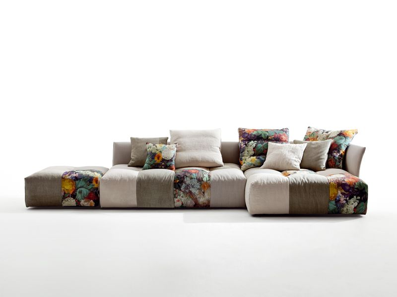 Pixel Fabric Sofa By Saba Italia Design Sergio Bicego