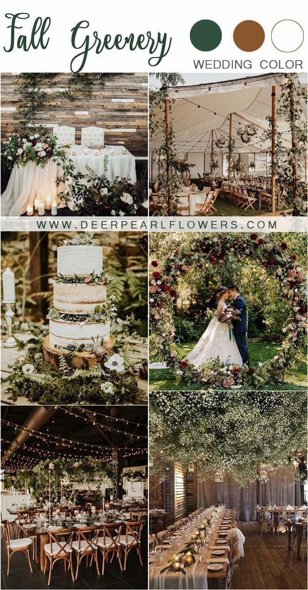 rustic fall greenery wedding decor ideas #wedding #weddings #greenwedding #weddi… Check mor…