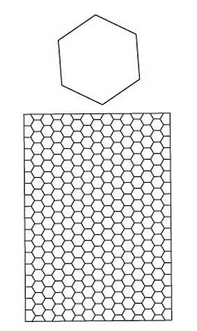 Hexagon coloring page to try out new designs. (Can also order pre ...