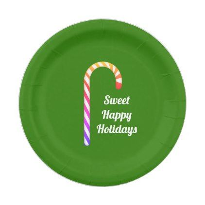 sc 1 st  Pinterest & Fruity Candy Cane Sweet Holidays Paper Plates