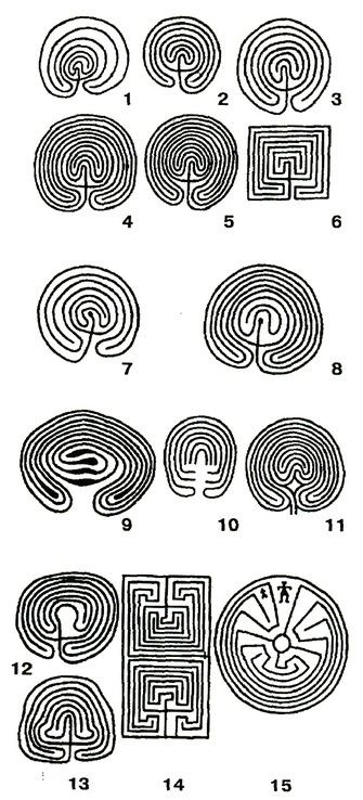 Spiral labyrinths, probably for religious services, laid out on the beach of stones, there are also some in Northern Europe: Denmark, Sweden, Estonia. The total number of more than 500 northern labyrinths Labyrinths known in Estonia -10 pieces, Sweden - about 300 pieces, Norway - 20 pieces, Finland - about 140 pieces, single - in England. As a rule, labyrinths are located on islands, peninsulas and in estuaries. Sometimes they are scattered singly This stone paths, the cllabirint9a.jpg…