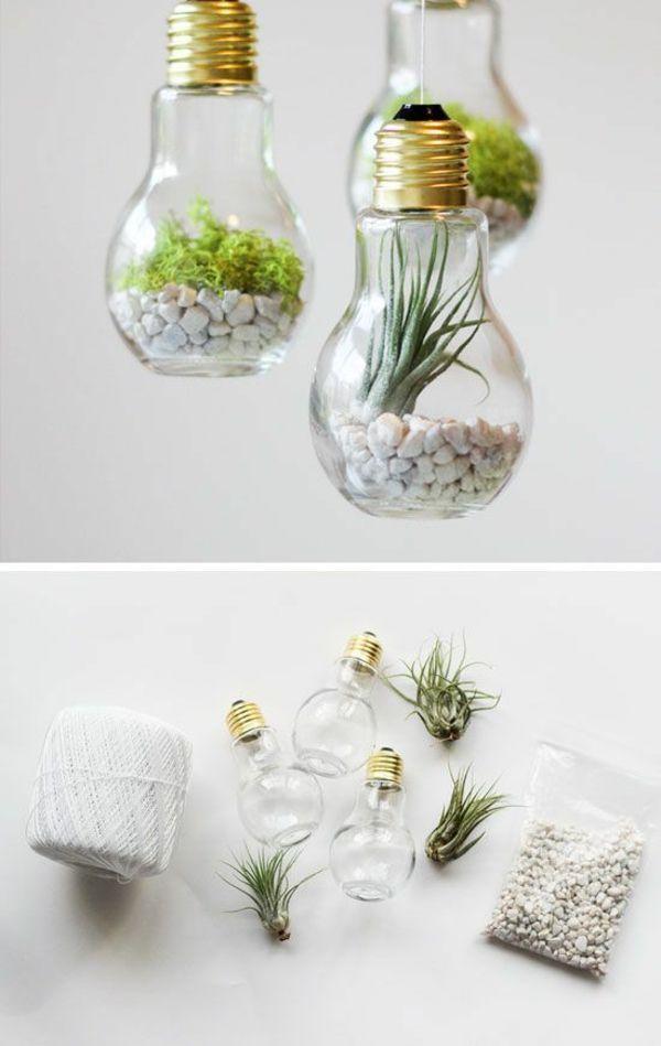 DIY Projekte mit alten Glühbirnen - 25 kreative Bastelideen #craftprojects