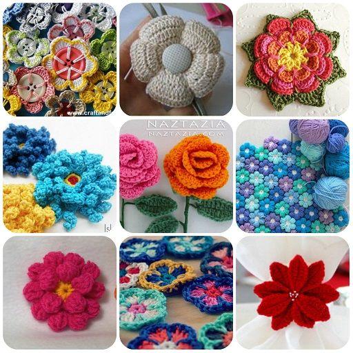 Fiori A Uncinetto Horgolt Virágok Crochet Crochet Flowers és