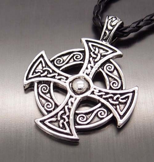 """Hot Men's Silver Celtic Solar Cross New Fashion Pewter Pendant with 20"""" Choker Necklace Jewelry P#235"""