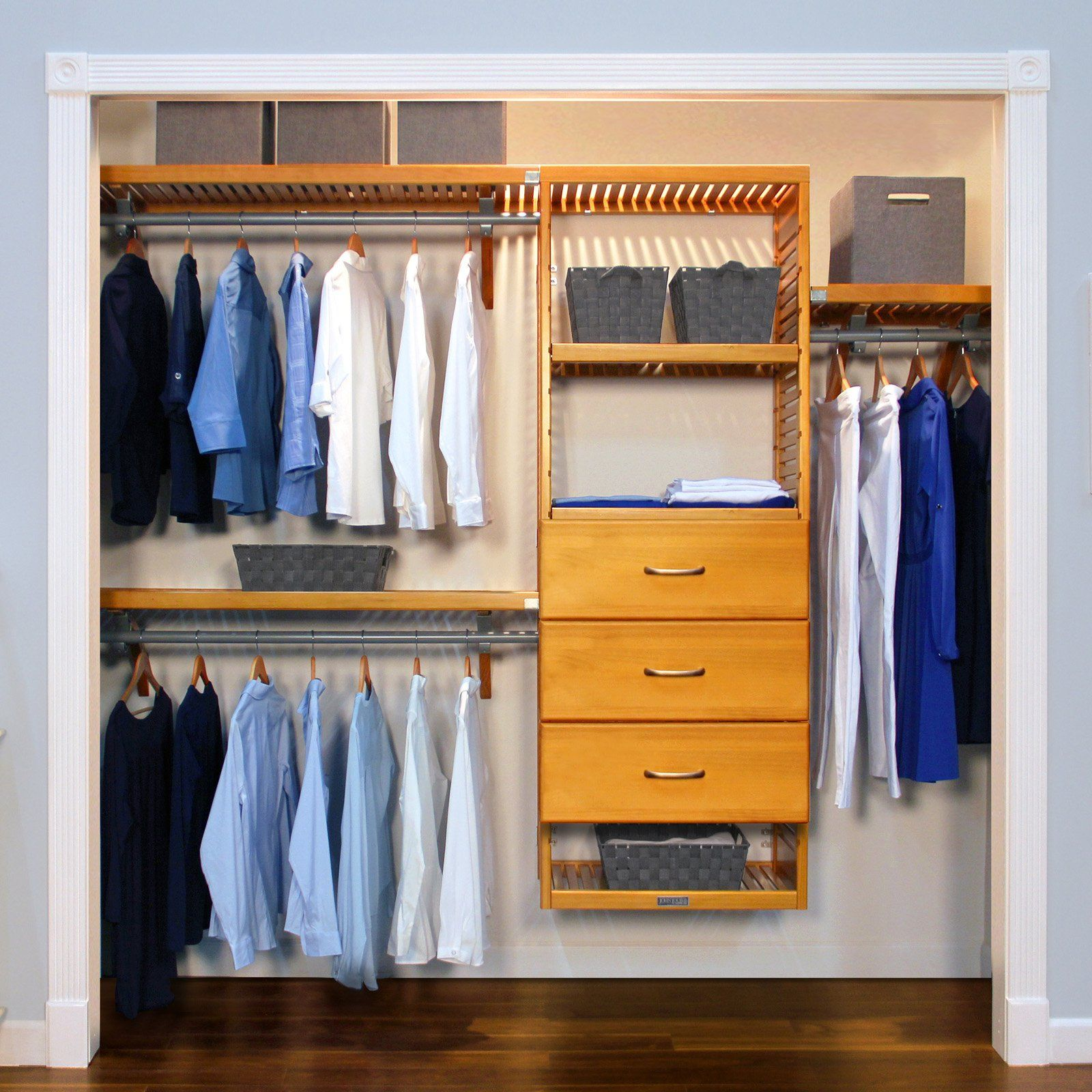 John Louis Home Deluxe Closet System, Honey Amber