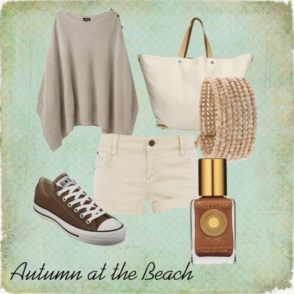 We won't have autumn days at the beach, but we will have rainy days, which have never scared us away. (Sally Lee by the Sea Coastal Lifestyle Blog: beach fashion)