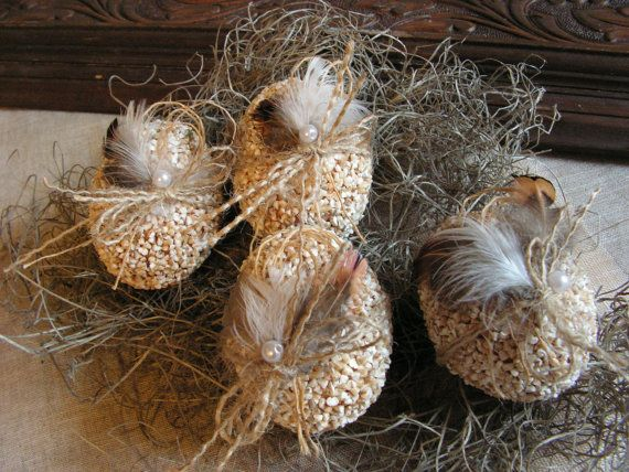 Rustic Easter eggs  set of 4 by Mydaisy2000 on Etsy, $24.00