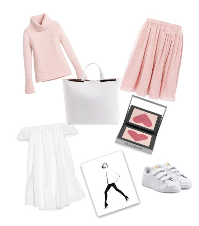 """""""Dying for this outfit"""" by hedddis-xx on Polyvore featuring Elizabeth and James, Needle & Thread, Burberry, White House Black Market, N°21 and adidas Originals"""