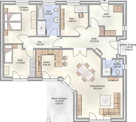 Bildergebnis für grundrisse bungalow 140 qm | Bungalows | Pinterest ...