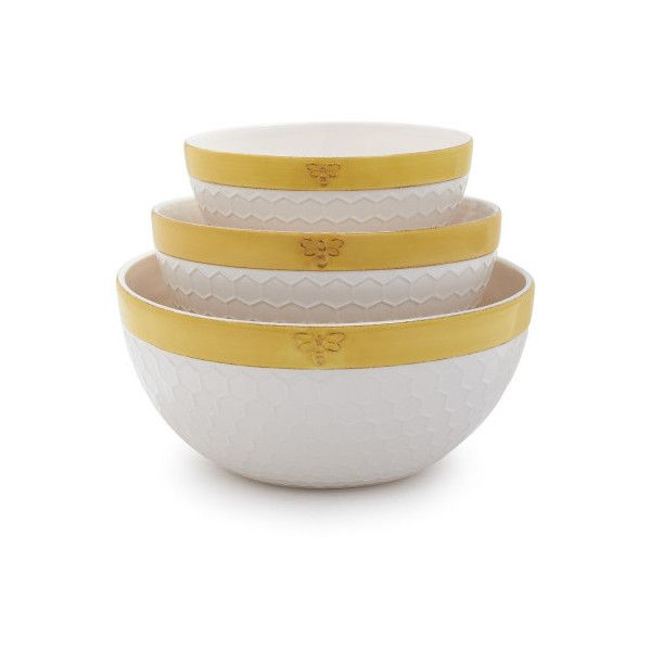 Sur La Table Honey Bee Mixing Bowls ($28) ? liked on Polyvore featuring home  sc 1 st  Pinterest & Sur La Table Honey Bee Mixing Bowls ($28) ? liked on Polyvore ...