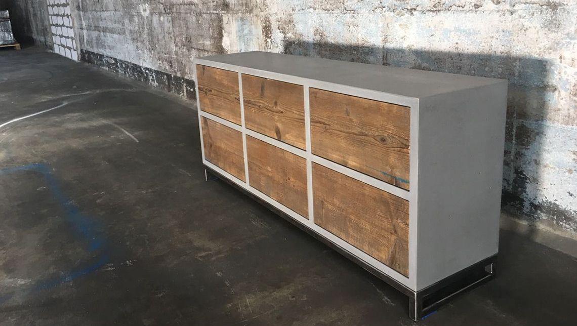 Beton Sideboard Berlin Six Box Betonmobel Manufaktur Box Schubladenschrank Manufaktur